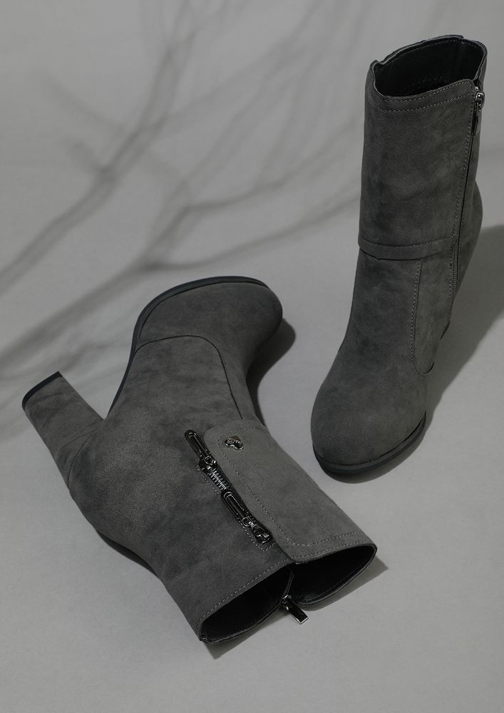 FROM HIGH-STREET WITH LOVE GREY BOOTS