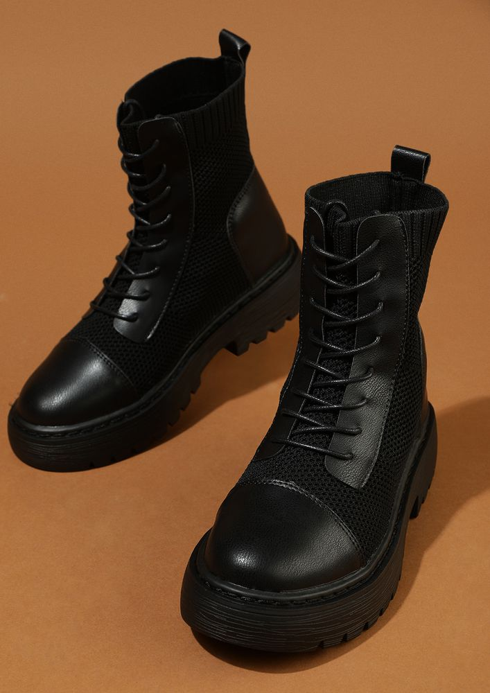 MARCH PAST THE HATERS BLACK COMBAT BOOTS