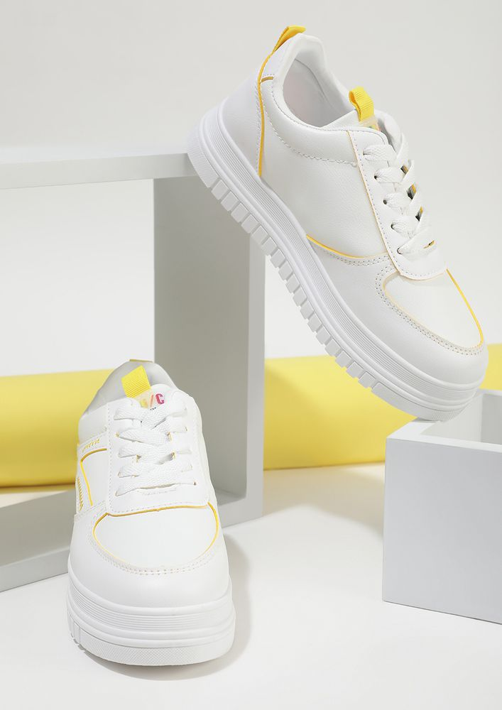 EASY TO GO YELLOW SNEAKERS