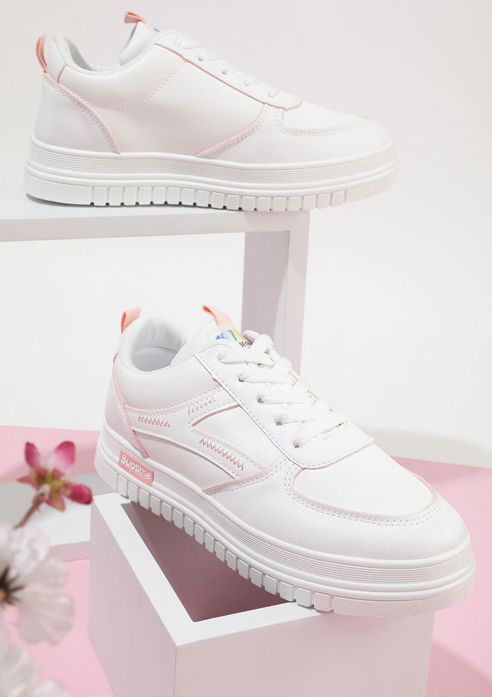 EASY TO GO PINK SNEAKERS
