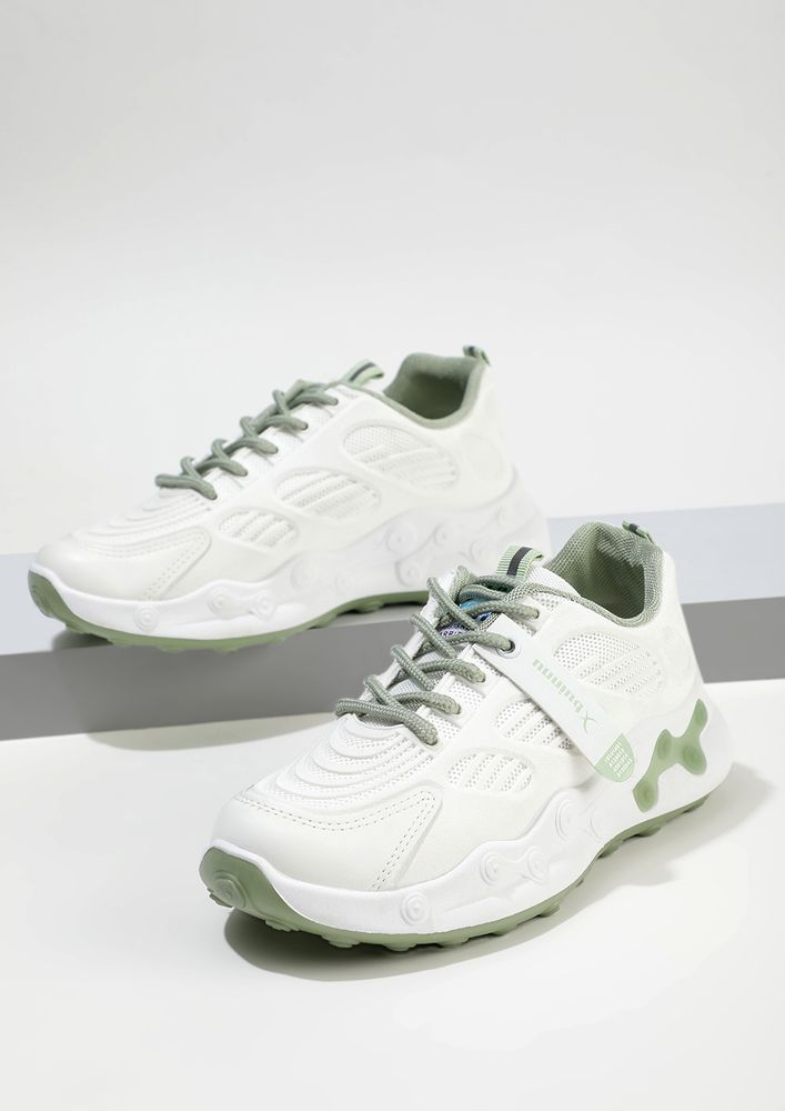 IT'S CALLED SHOE- SOLVING GREEN TRAINERS