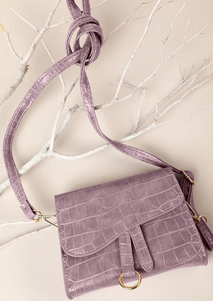 POSH AND SPICY MAUVE SLING BAG