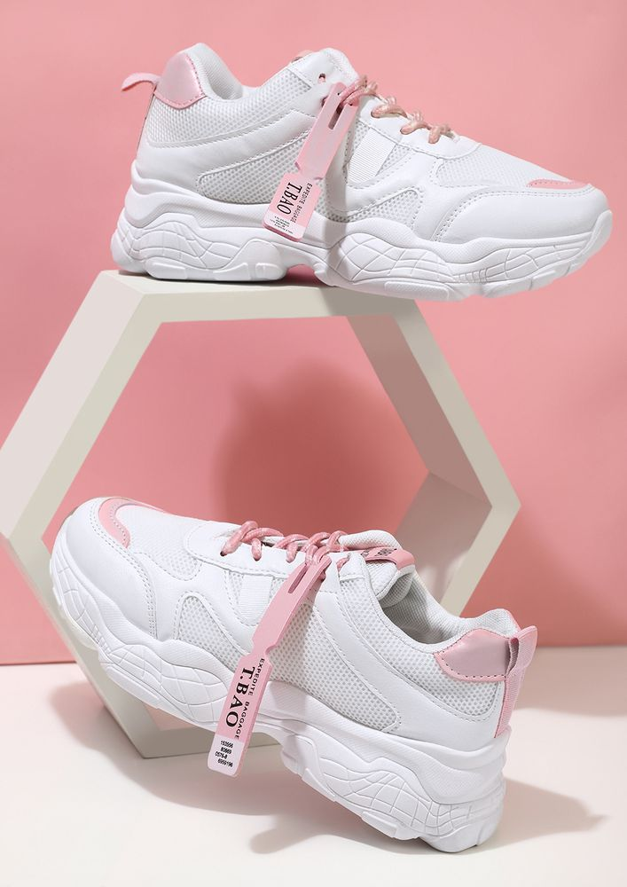 LEAP OF COMFORT PINK TRAINERS
