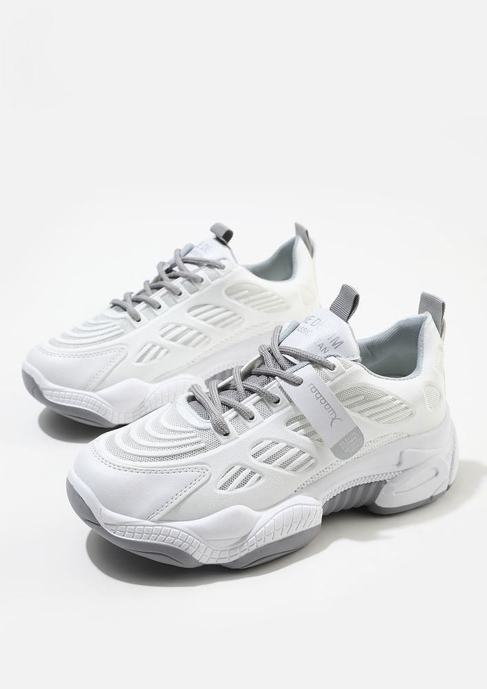 PACE UP HUSTLER GREY TRAINERS