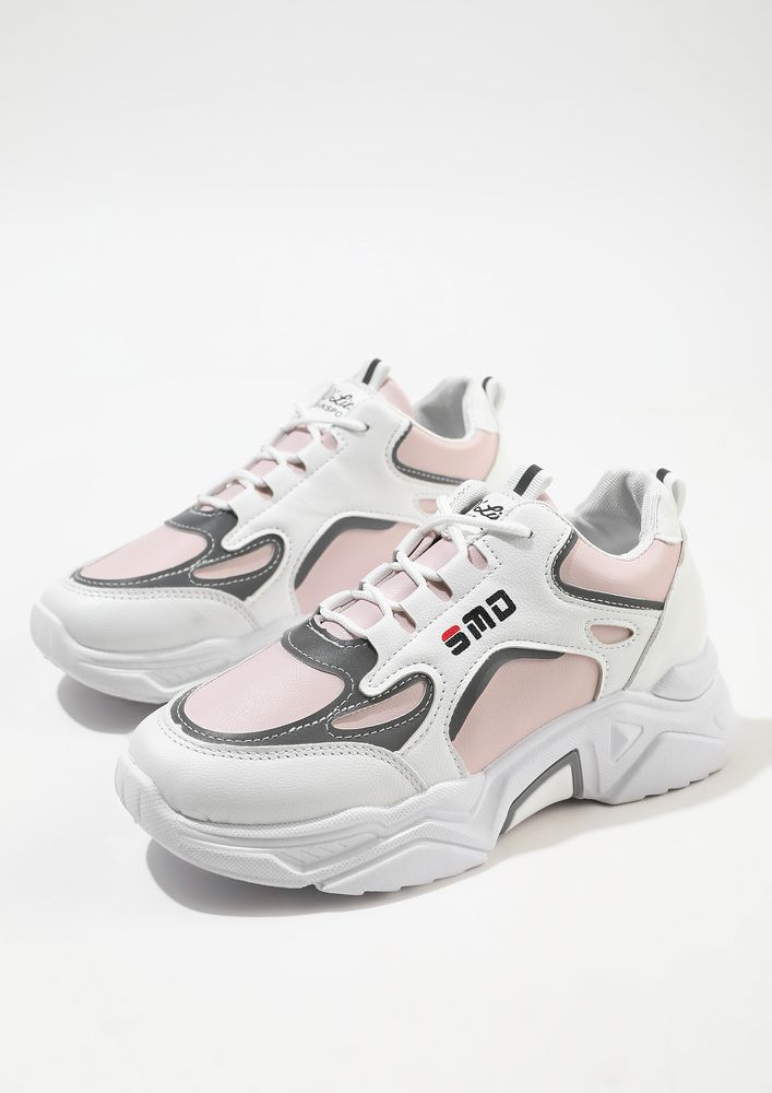 WORK IT PINK TRAINERS