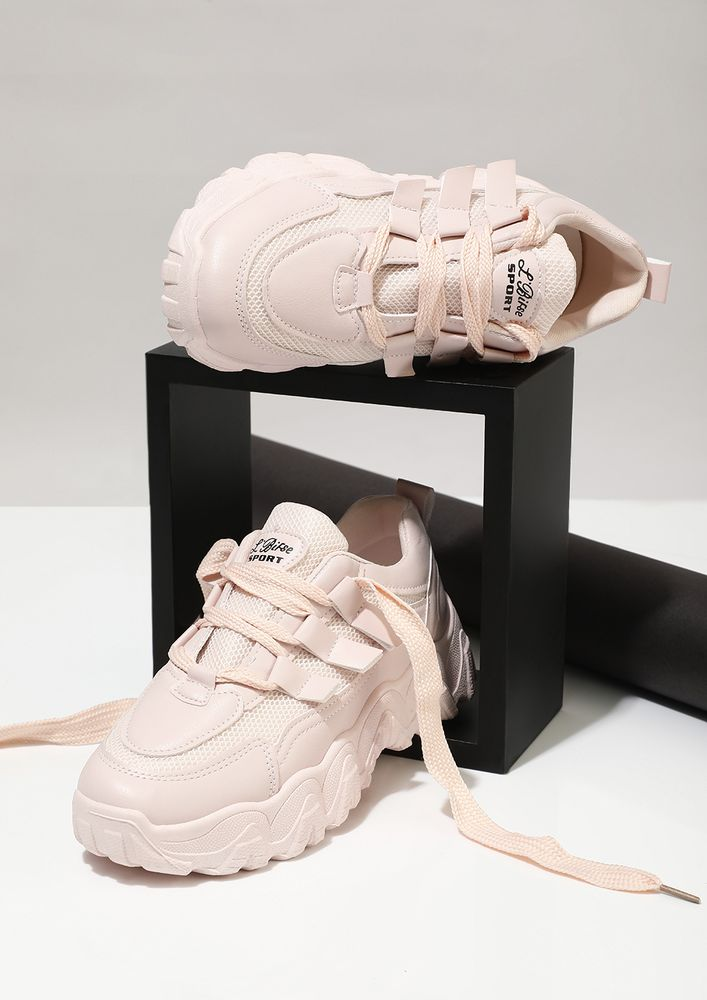 CURL UP IN DREAMS PINK TRAINERS