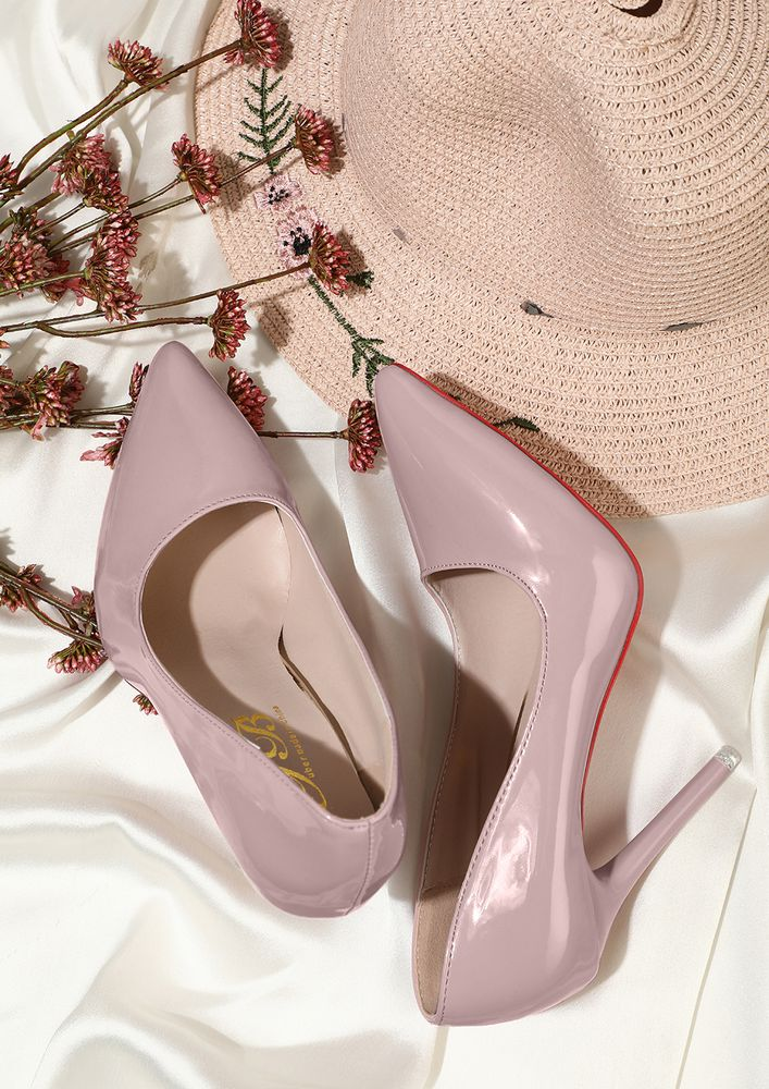 GLIMMERS OF FASHION PINK  HIGH HEELED PUMPS