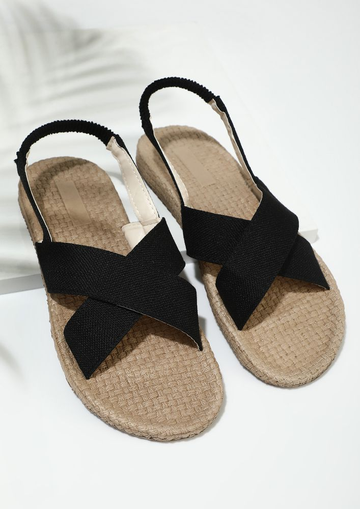 CROSSED MY PATH WHITE FLAT SANDALS
