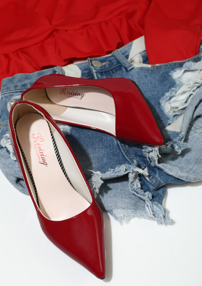ADMIRING YOU RED STILETTO HEELS