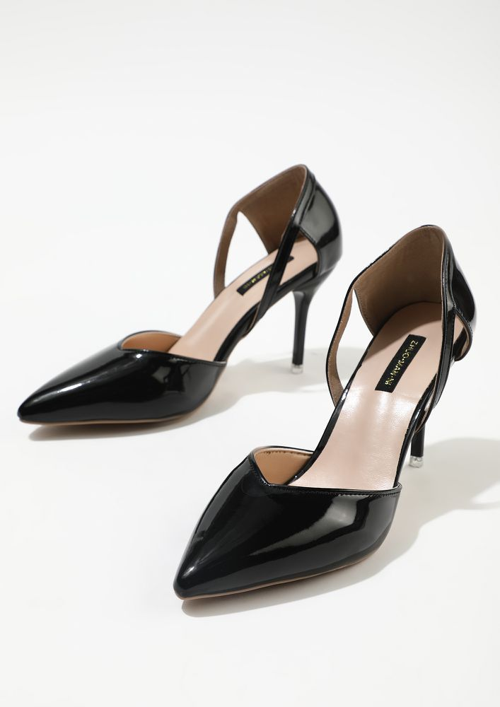 GET TO THE POINTY BLACK PUMPS