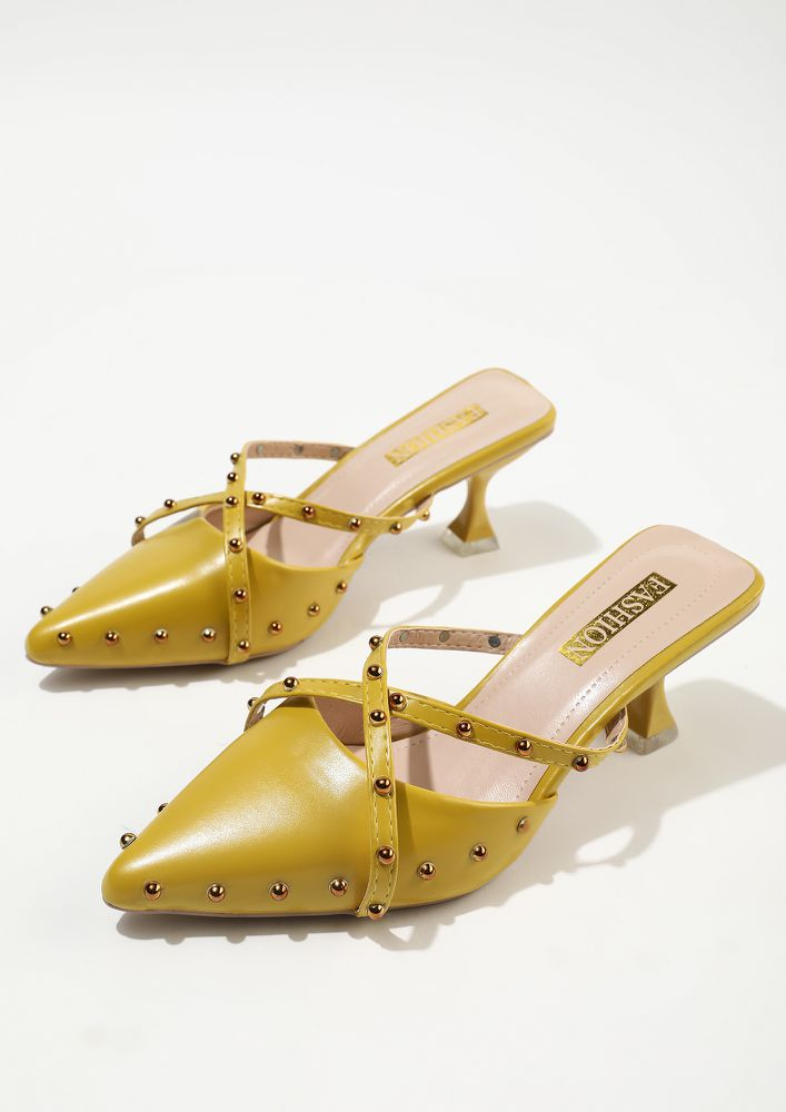 TIME TO PARTY YELLOW SLIP ON PUMPS