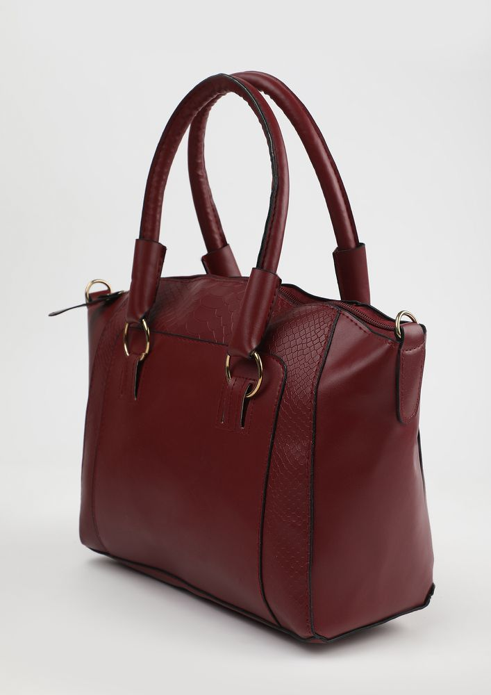 LEGALLY CHIC RED BAG