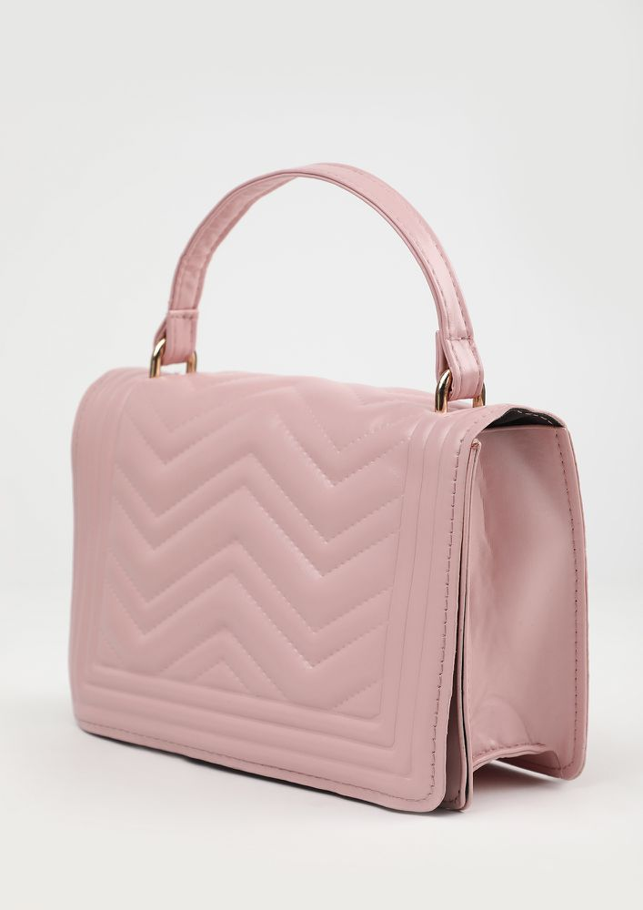 BRIGHT AS SAPPHIRE PINK SLING BAG