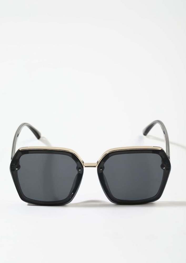 RULERS OF THE PAST GREY SQUARE SUNGLASSES