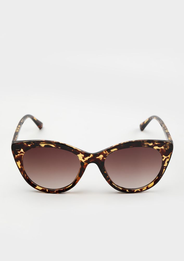 IN A SAFE SHELL AMBER CATEYE SUNGLASSES