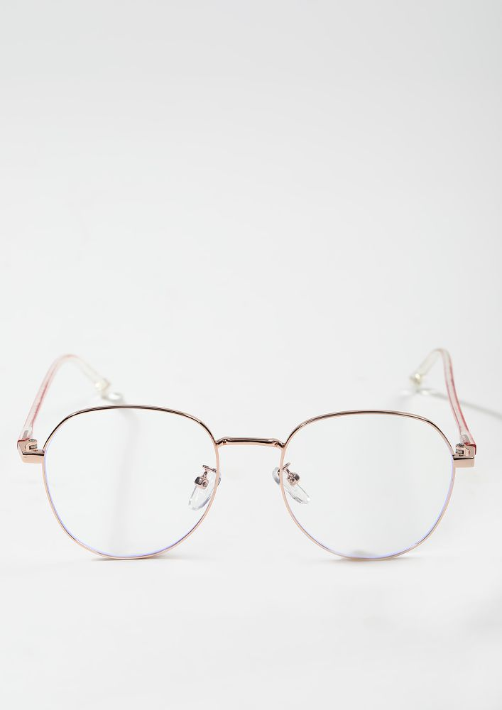NOD TO NERDY ROSE OLD CLEAR LENS AVIATORS