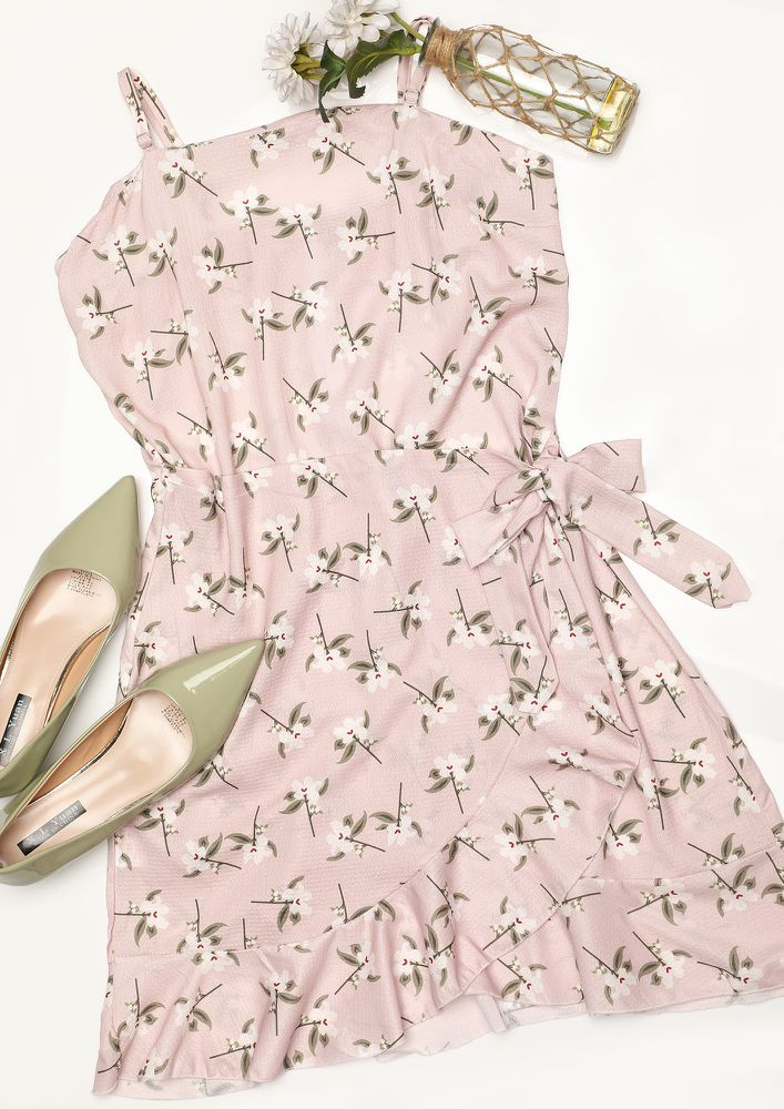 CHERRY ON THE TOP PINK SKATER DRESS