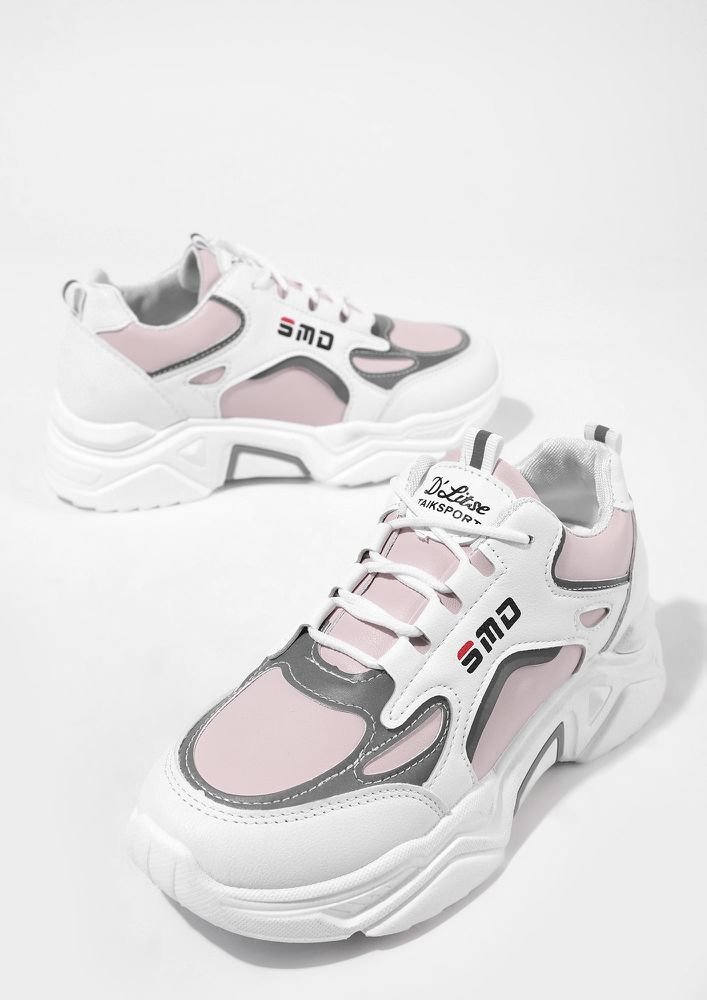BLEND THE TREND IN PINK TRAINERS