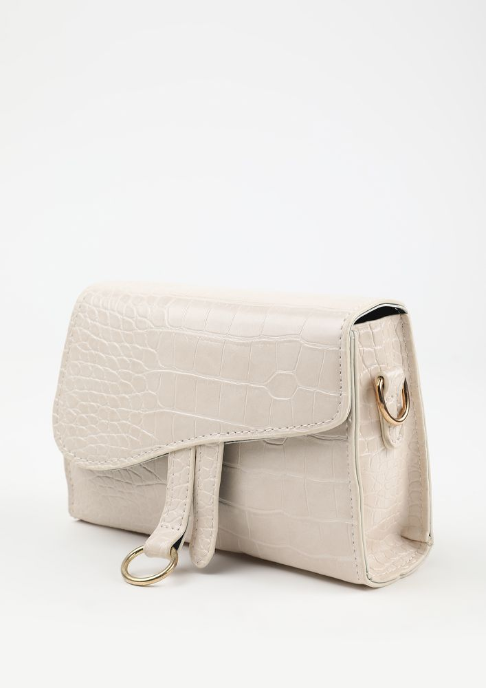 POSH AND SPICY BEIGE SLING BAG