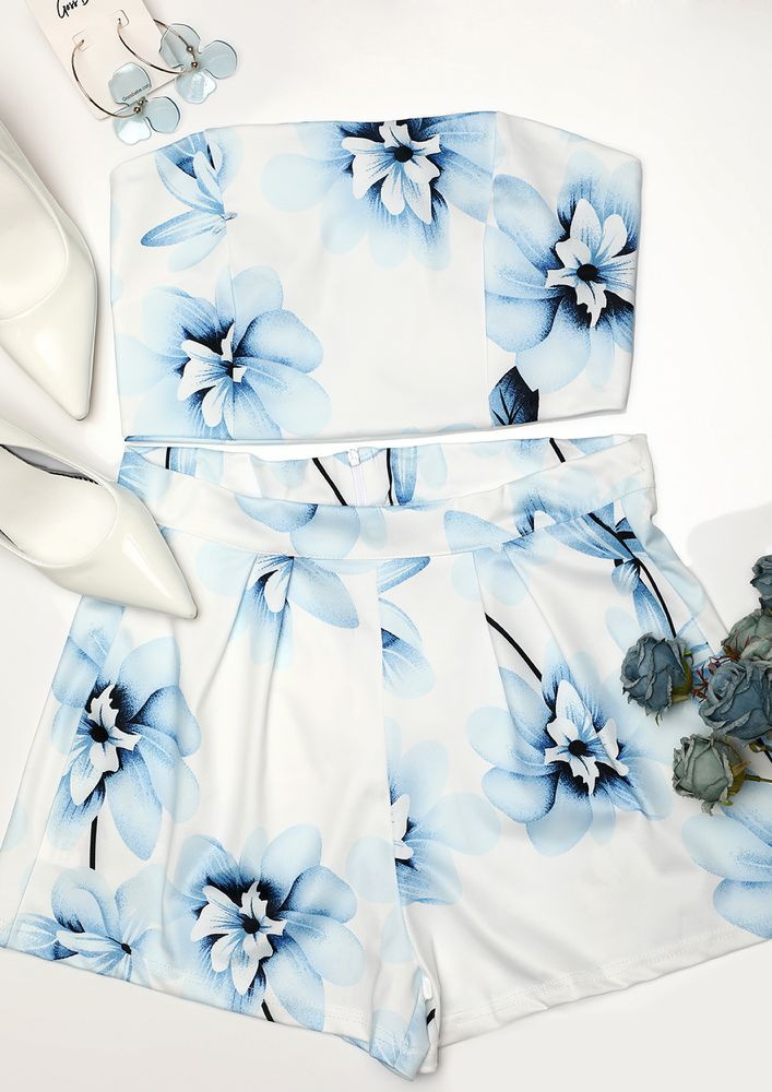 LOVE BY THE MOON TIE AND DYE WHITE TWO PIECE
