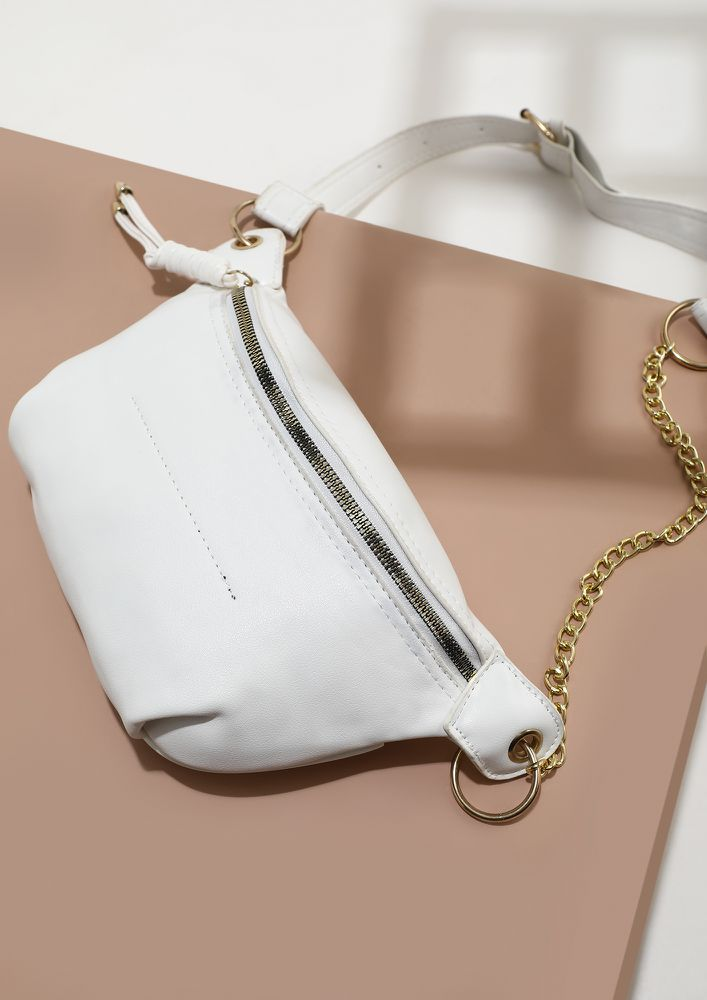 HOLD THE ELEGANCE WHITE FANNY PACK