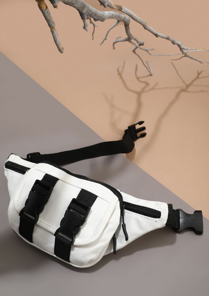 PORTIONS OF COMFORT WHITE FANNY PACK