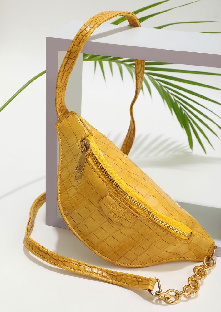 YOU'RE MINE YELLOW SLING BAG