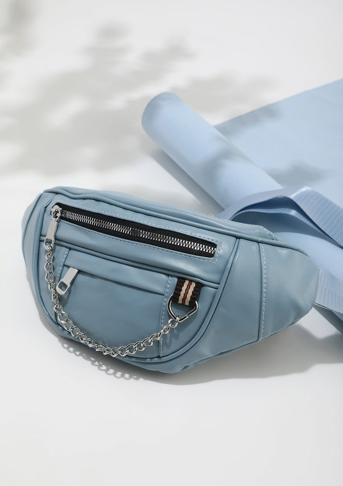 CLOSE TO PASTELS BLUE FANNY PACK