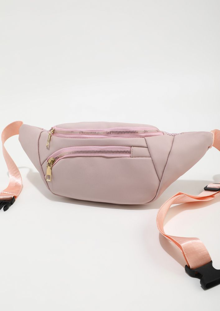 TOO ATTACHED PINK FANNY PACK