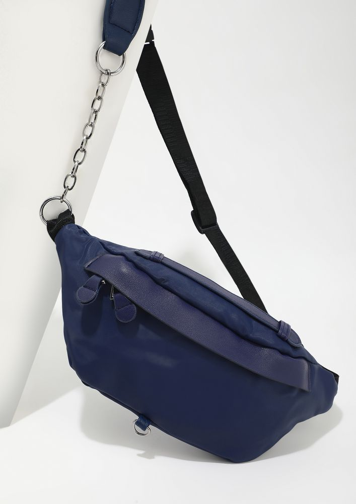 AROUND ALL THE TIME NAVY FANNY BAG