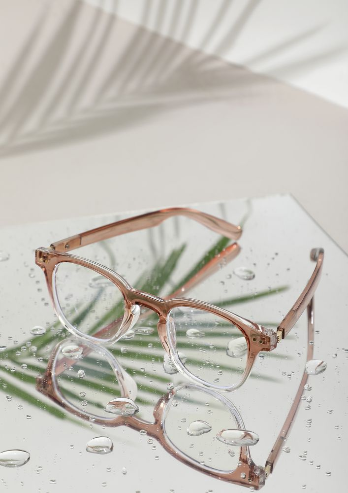 IN THE RIGHT FRAME LIGHT BROWN GLASSES