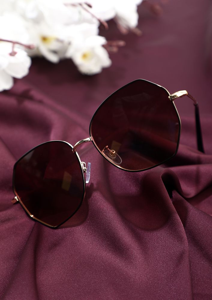 CALL ME OUT GOLD BLACK RED AVIATORS