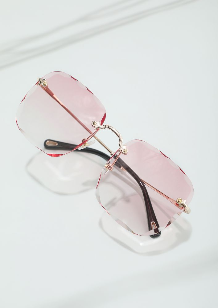 HEADING TO THE NEXT BEST THING PINK SUNGLASSES
