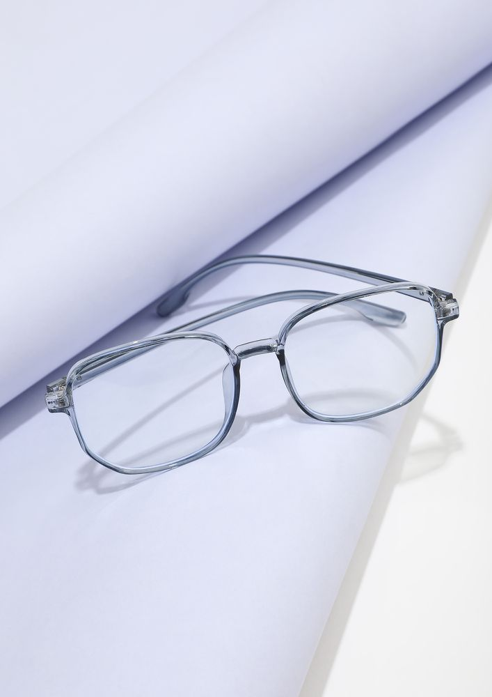 LARGER THEFRAME GREATER THE STYLE BLUE GLASSES