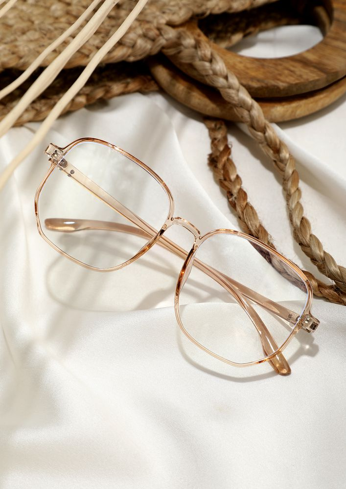 LARGER THEFRAME GREATER THE STYLE BROWN GLASSES