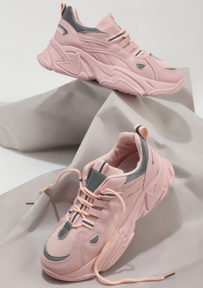 BOLD STEPS ALL THE WAY PINK TRAINERS