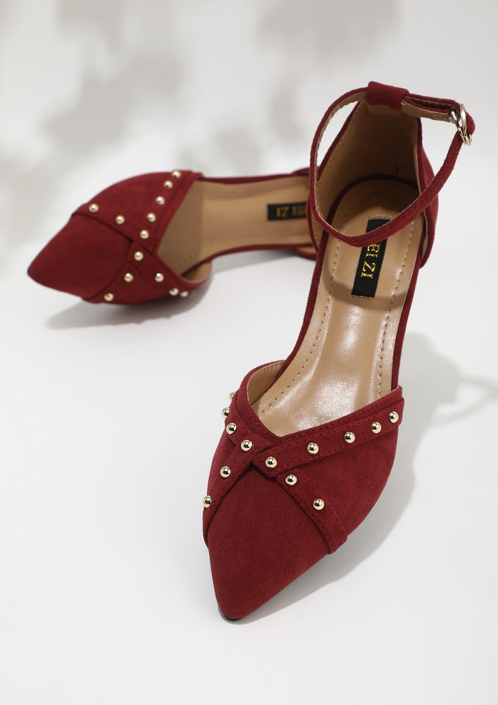 STEP ON RED FLAT SANDALS