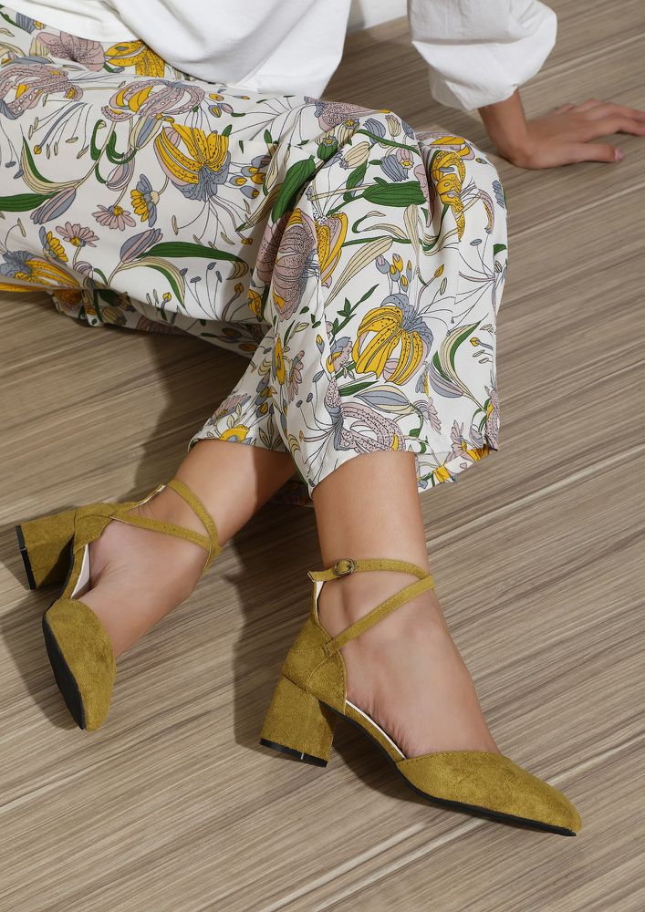 CALL ME FINE YELLOW SANDALS