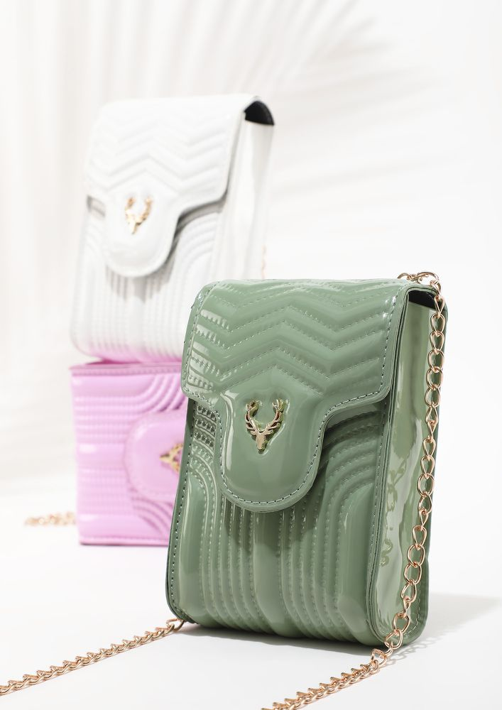 BY MY SIDE ALWAYS GREEN SLING BAG