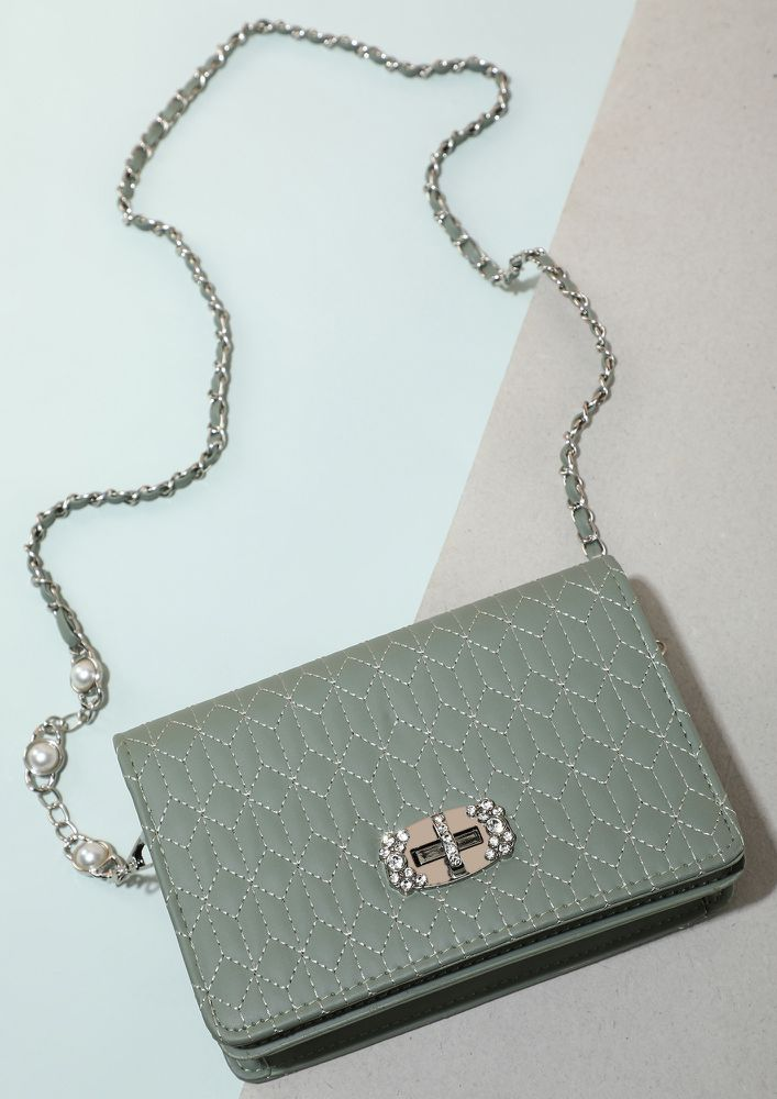 TOAST TO THE ONE'S GREEN SLING BAG