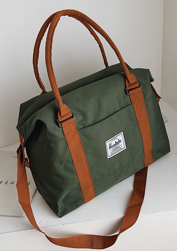SIMP OUTINGS OLIVE TRAVEL BAG