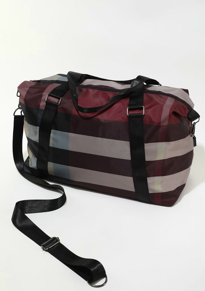 ON A NEW HORIZON RED TRAVE BAG