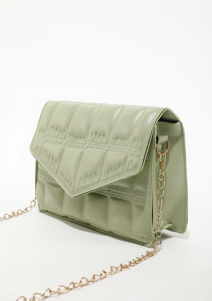 CHIC ONE FROM MY COLLECTION GREEN SLING BAG