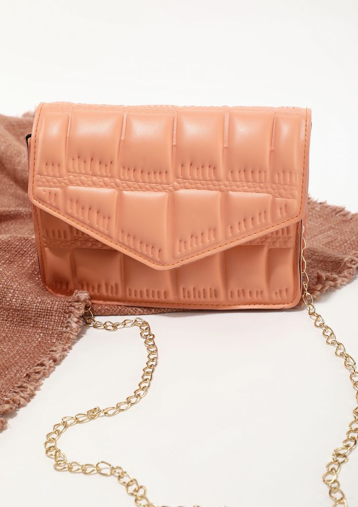 CHIC ONE FROM MY COLLECTION ORANGE SLING BAG