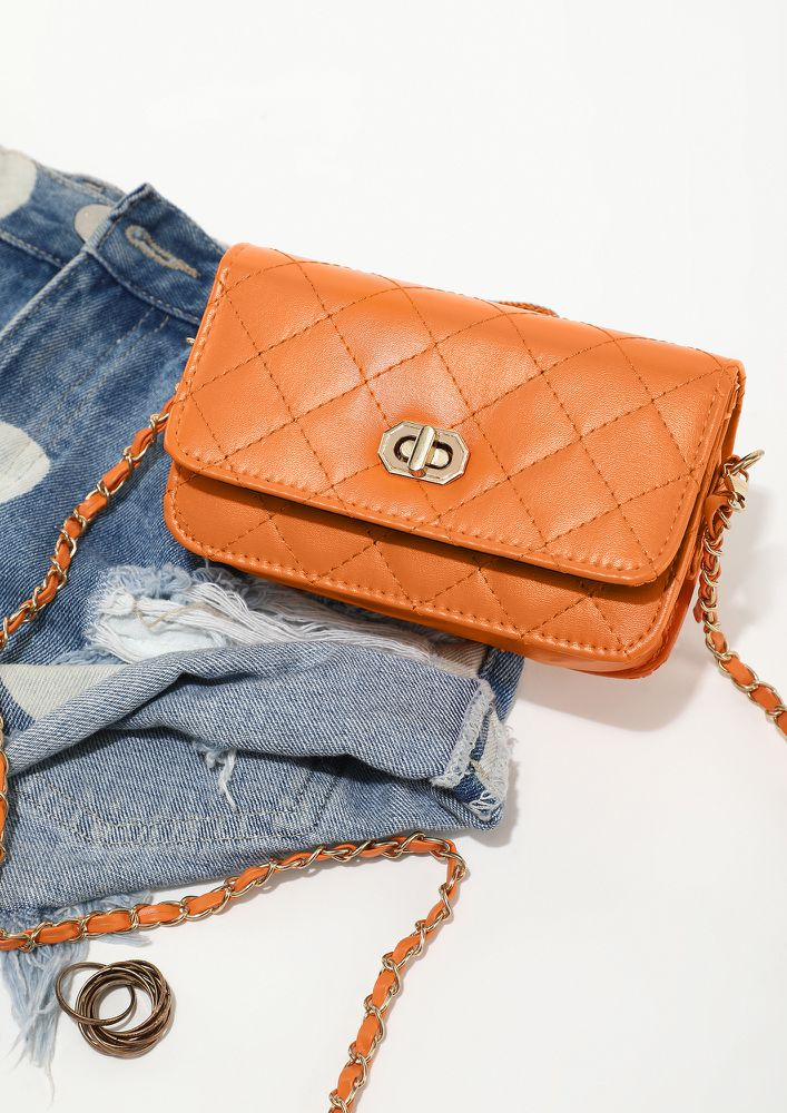 CALL THE NIGHT YOUNG ORANGE SLING BAG