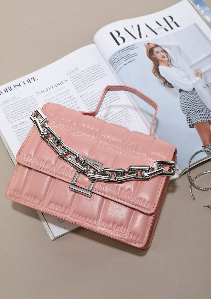 CRUSHED ON THIS PINK SLING BAG
