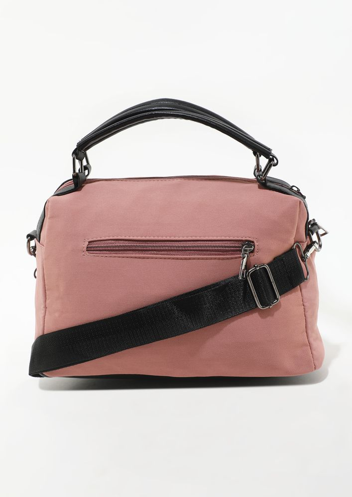 HURRY ITS TIME PINK BACKPACK