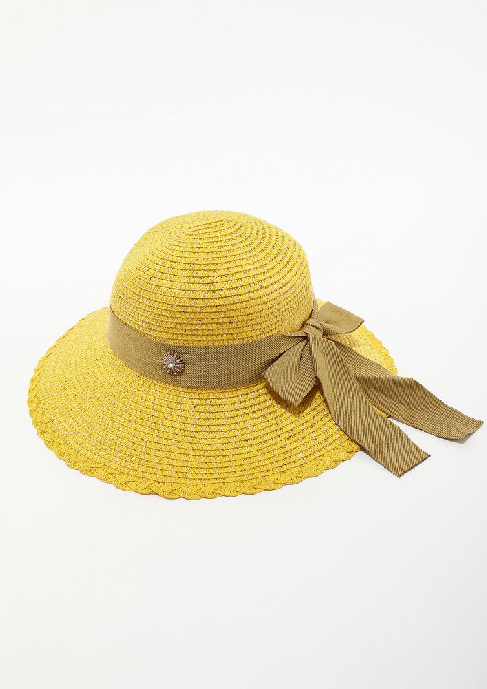 WRAPPED IN CUTENESS YELLOW HAT
