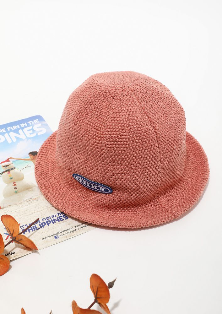 STEP OUT IN PEACH BUCKET HAT