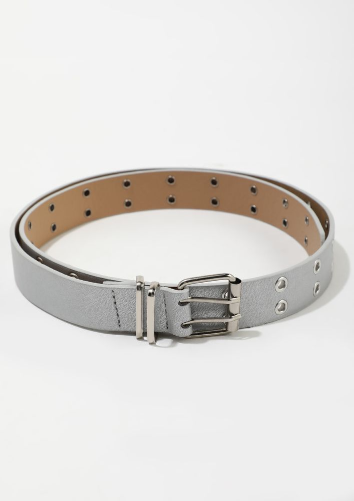 SIMPLE HIGH THINKING SILVER BELT